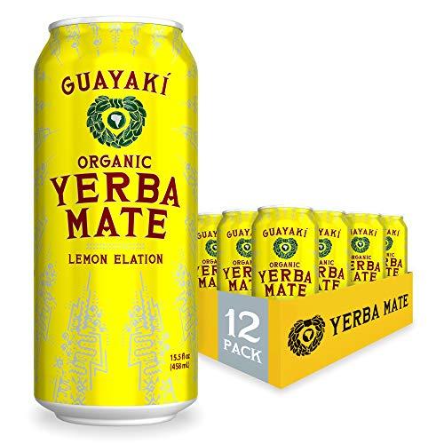 Guayaki Organic Yerba Mate Lemon Elation, Lemon Yerba Mate Drink...