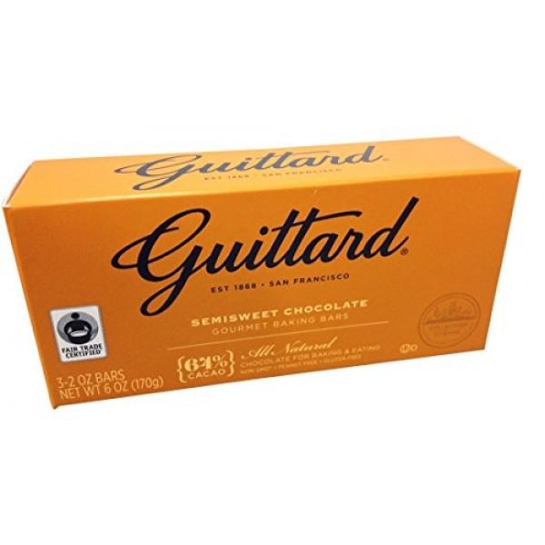 Guittard, 64% All Natural Cocoa Baking Bars, Semi Sweet, 6oz Pac...