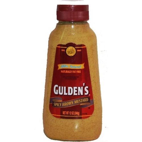 Guldens 100 % Natural Spicy Brown Mustard - 12 oz Squeeze Bottle