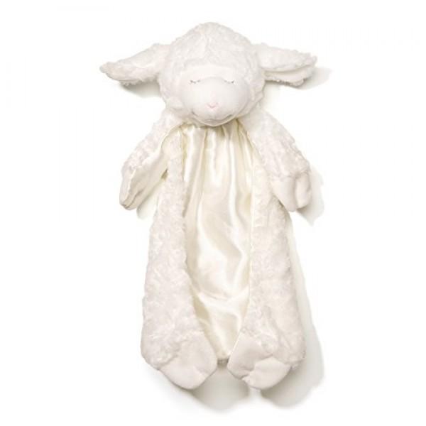 Baby GUND Winky Lamb Huggybuddy Stuffed Animal Plush Blanket, White