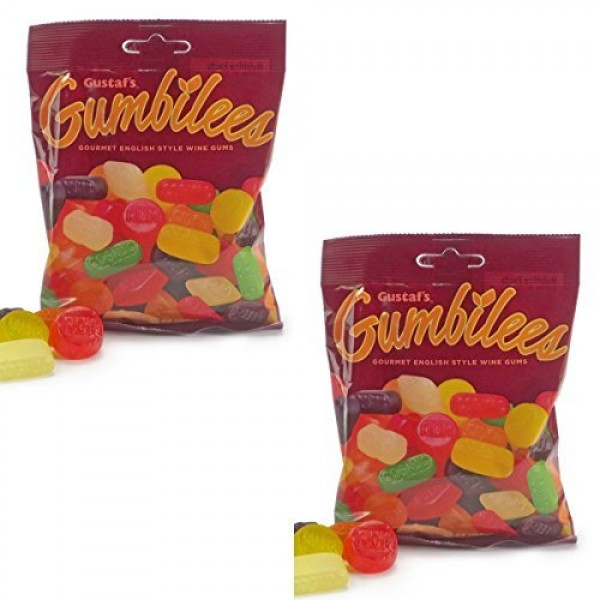 Gustafs Gumbilees TWO PACK - Gourmet English Style Wine Gums - ...