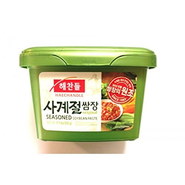 Haechandle Seasoned Soybean Paste 1.1 Lb. 500g Tub