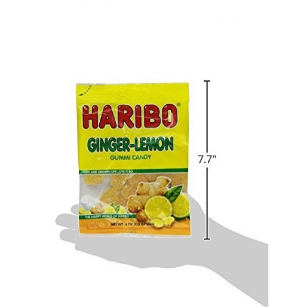 Haribo Gummy Candy, Ginger Lemon, 4-ounce Pack of 6 From Jerse...