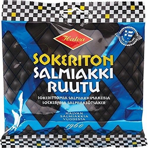 2 Bags x 90g of Halva Sokeriton Salmiakkiruutu - Original - Finn...