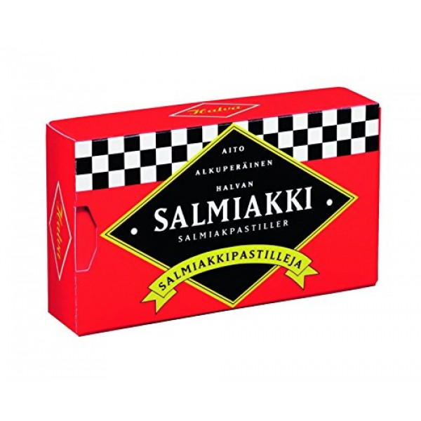 4 Boxes x 34g of Halva Salmiakkipastilli - Original - Finnish - ...