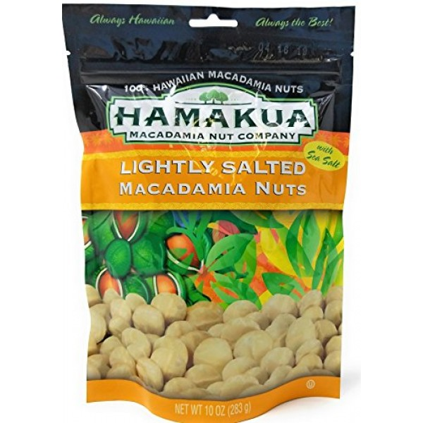 Hamakua Macadamia Nuts Lightly Salted in ReSealable Pouch 10 Ou...