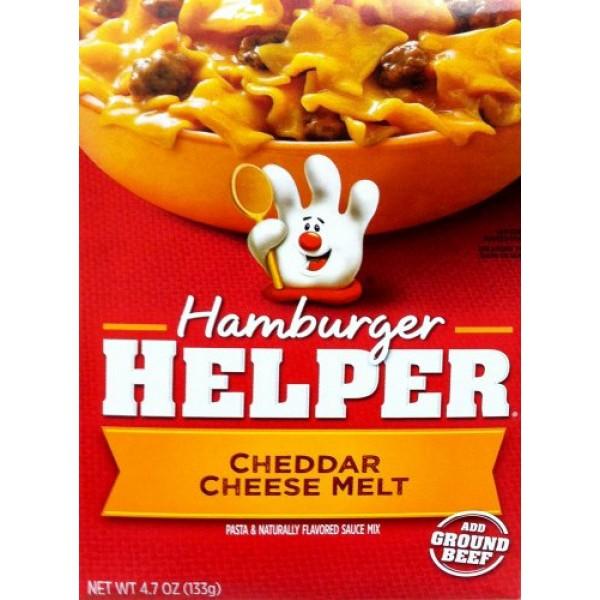 Betty Crocker CHEDDAR CHEESE MELT Hamburger Helper 4.7oz 2 Pack