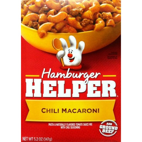 Betty Crocker CHILI MACARONI Hamburger Helper 5.2oz (2 Pack)