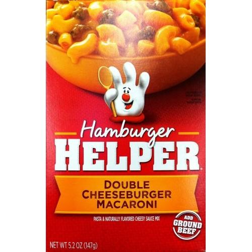 Betty Crocker DOUBLE CHEESEBURGER MACARONI Hamburger Helper 5.2o...