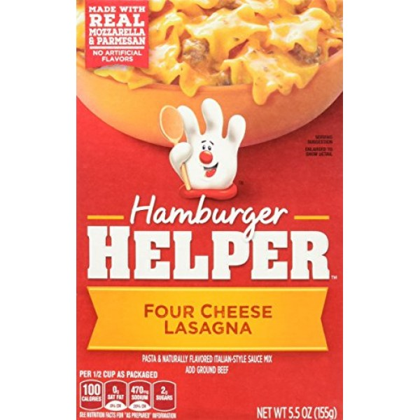 Betty Crocker FOUR CHEESE LASAGNA Hamburger Helper 5.5oz 2 Pack