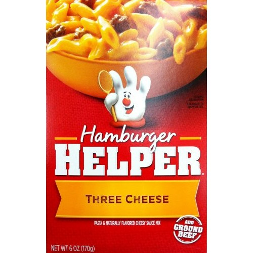 Betty Crocker THREE CHEESE Hamburger Helper 6oz 2 Pack