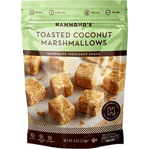 HAMMONDS CANDIES Toasted Coconut Marshmallows, 4 OZ