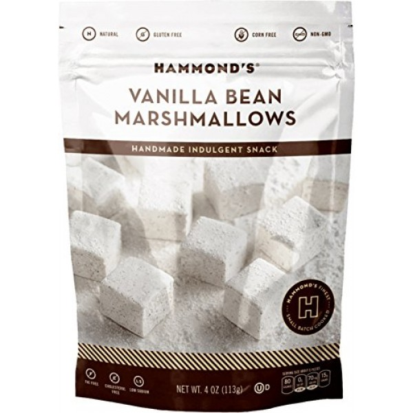 HAMMONDS CANDIES Vanilla Bean Marshmallows, 4 OZ