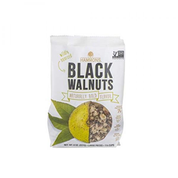Hammons Black Walnuts, Fancy Large, 8 oz, Highest Protein Nut, H...