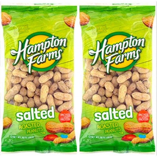 Salted Roasted Peanuts, 10-oz. Bags - 2 Packs; Hearty and health...