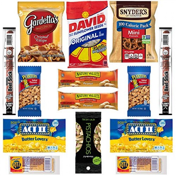 HANGRY KIT - Salty Kit - Snack Sampler - Care Package - Gift Pa...