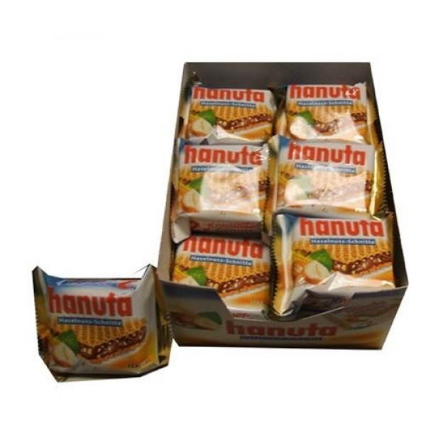 Ferrero Hanuta Chocolate Hazelnut Candy Wafers 18 x 2 36 count