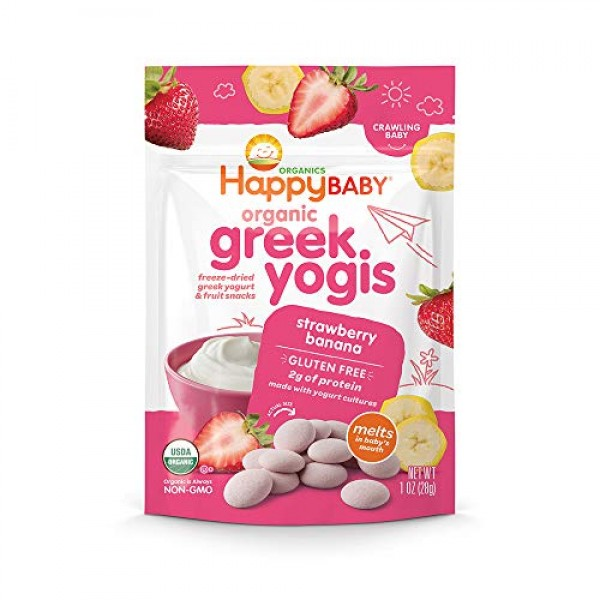 Happy Baby Organic Greek Yogis Freeze-Dried Greek Yogurt and Fru...