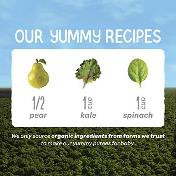 Happy Baby Organic Clearly Crafted Stage 2 Baby Food Bananas, Pi...