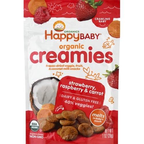 Happy Baby Organic Creamies Freeze-Dried Veggie & Fruit Snacks w...