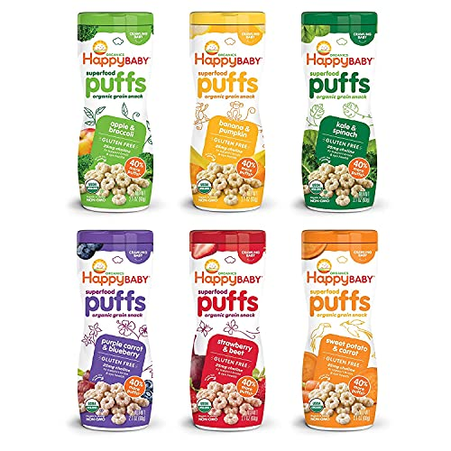 Happy Baby Organic Superfood Puffs Assortment Variety Packs 2.1 ...