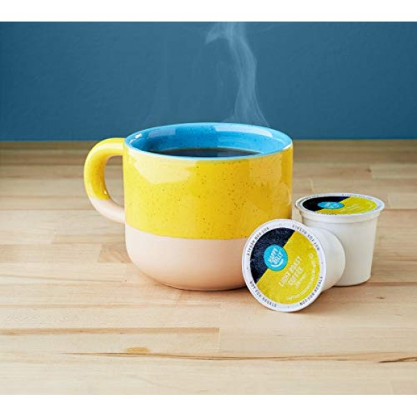 Amazon Brand - 100 Ct. Happy Belly Light Roast Coffee Pods, Fren...