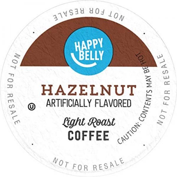 Amazon Brand - 100 Ct. Happy Belly Light Roast Coffee Pods, Haze...