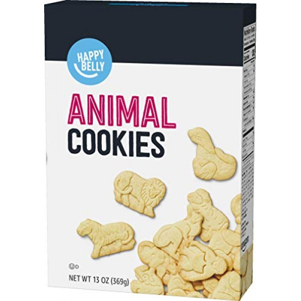 Amazon Brand - Happy Belly Animal Cookies, 13 Ounce