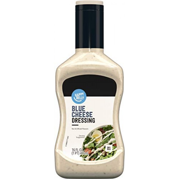 Amazon Brand - Happy Belly Blue Cheese Dressing, 16 Fl Oz
