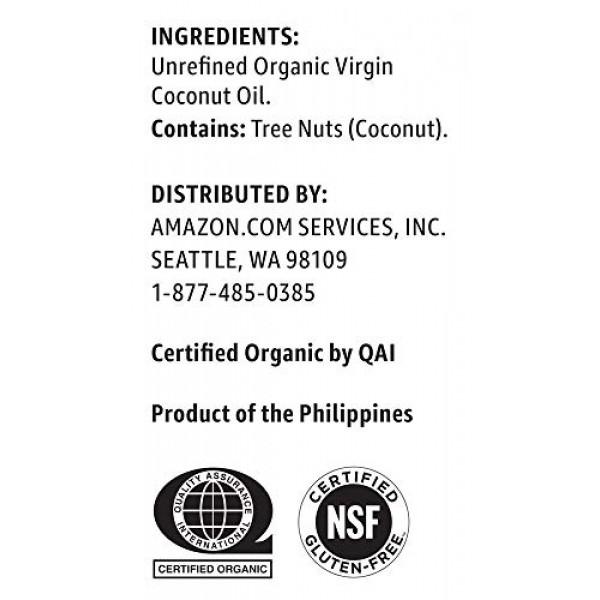 Amazon Brand - Happy Belly Organic Virgin Coconut Oil, 15 Fl Oz