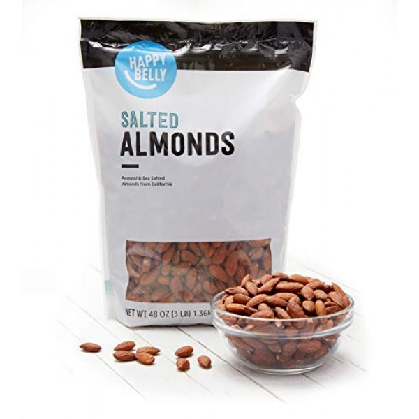 Amazon Brand - Happy Belly Roasted & Salted California Almonds, ...