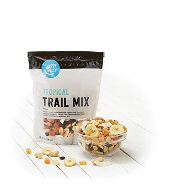 Amazon Brand - Happy Belly Tropical Trail Mix, 16 oz Pack of 2