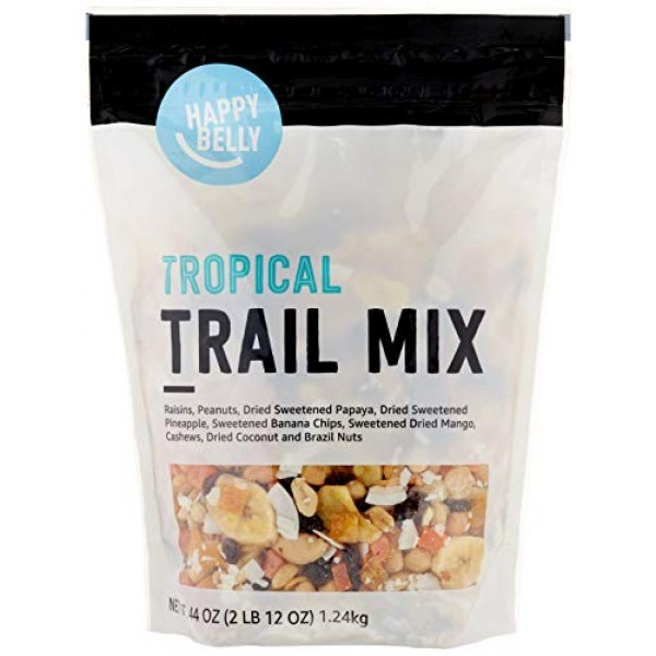 Amazon Brand - Happy Belly Tropical Trail Mix, 44 oz