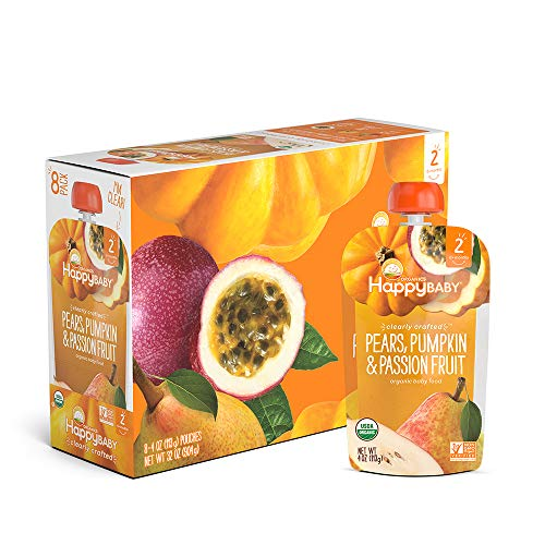 Happy Baby Organic Clearly Crafted Stage 2 Baby Food Pears, Pump...