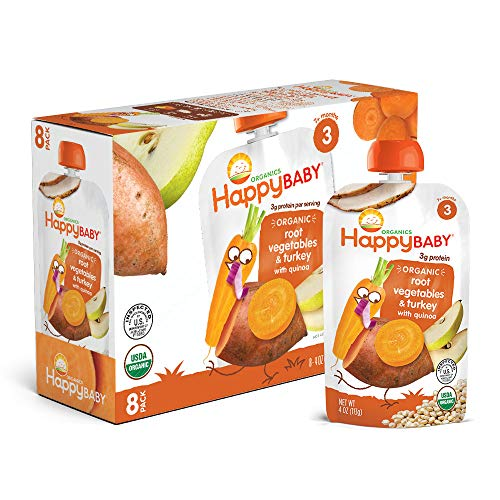 Happy Baby Organic Stage 3 Baby Food Hearty Meals Root Vegetable...