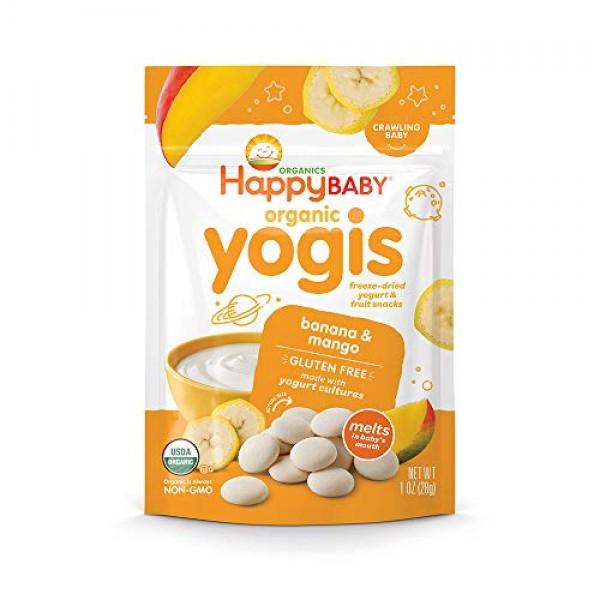 Happy Baby Organic Yogis Freeze-Dried Yogurt & Fruit Snacks Bana...