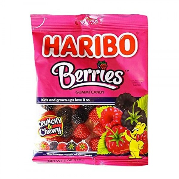 Gummy Candy Berries - 5 Ounce Pack of 3