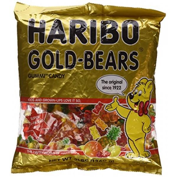 Haribo ORIGINAL Gold-Bears GUMMI CANDY 3lb 2 Pack