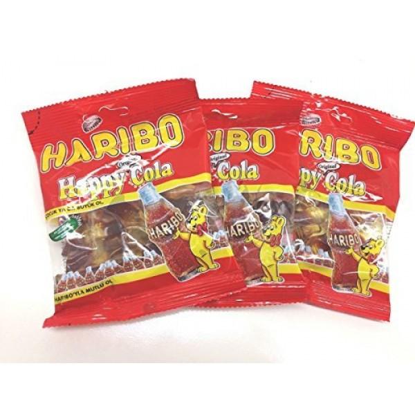 Haribo Gummi Candy, Happy Cola 80g x 3