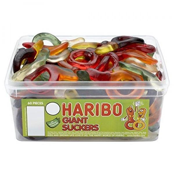 Haribo Giant Suckers Tub of 60