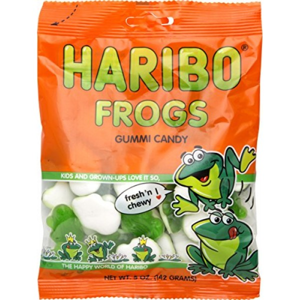 Haribo Frogs Gummi Candy, 5 oz Pack of 3