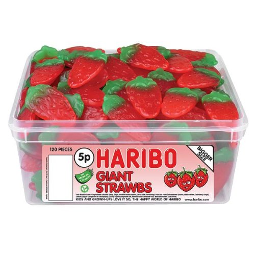 Haribo Giant Strawberrys 120 Pieces