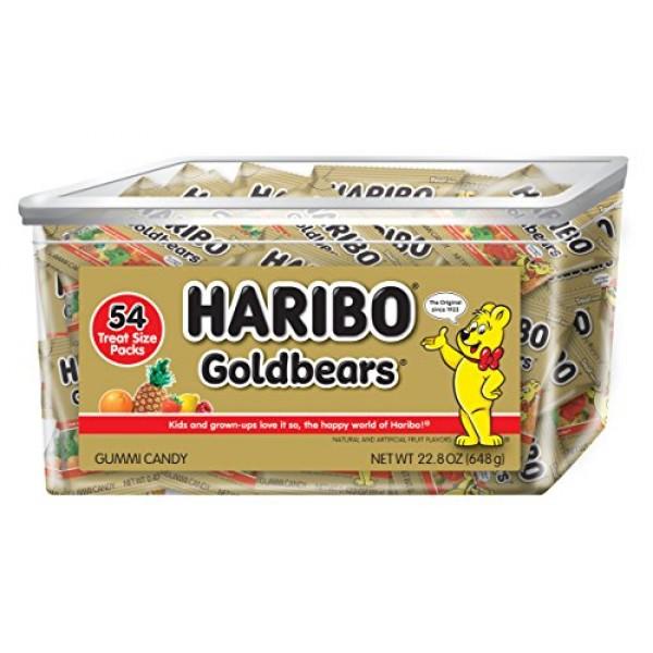 Haribo Goldbears Original Flavor Tub, Individually Wrapped, 54 C...