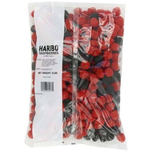 Haribo Gummi Candy, Berries, 5-Pound Bag