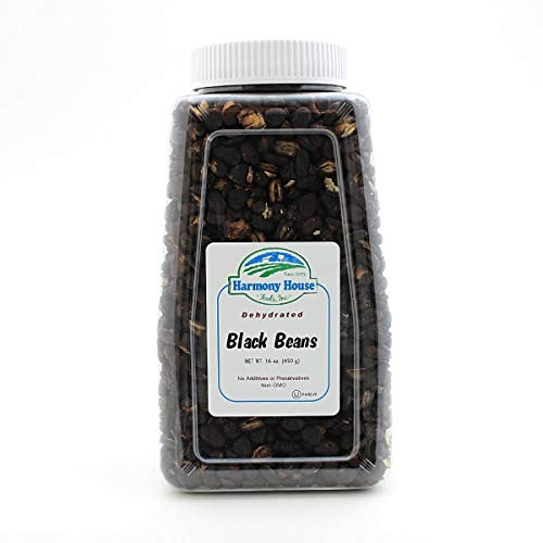 Harmony House Foods TRUE Dehydrated Black Beans -- Easy Cook (16...