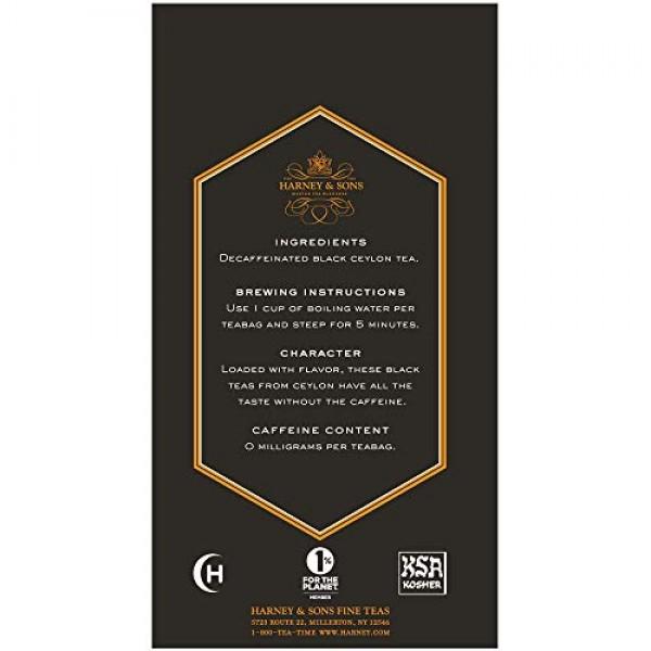 Harney & Sons Black Tea, Decaffeinated Ceylon, 20 Tea Bags, 1.26...