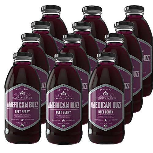 Harney & Sons American Buzz Iced Tea, Beet Berry, 12 Count
