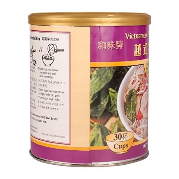 16oz Harvest Vietnamese Pho Beef Broth Mix, No MSG Added, Gluten...