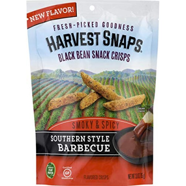 Harvest Snaps Southern Style Barbecue Black Bean Snack Crisps, G...