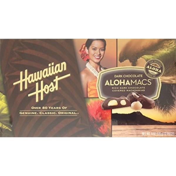 Hawaiian Host AlohaMacs Dark Chocolate 6 oz Box Pack of 3